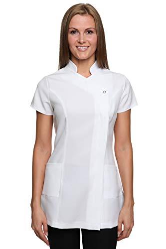 Damen Berufsbekleidung Kasack Freya Weiß Gr. 38 DE 10 UK