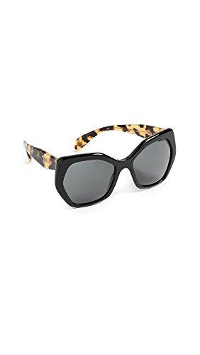 Prada 0PR 16RS Gafas de sol, Black, 56 para Mujer