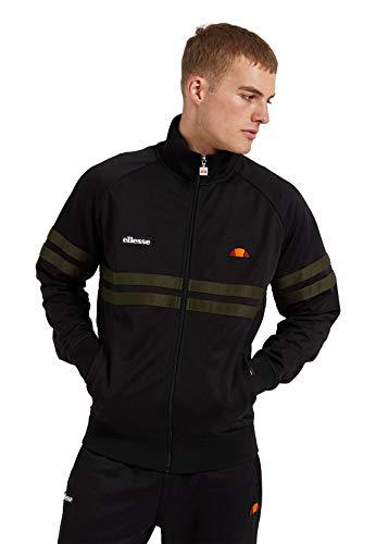 ellesse Zipper Rimini - Chaqueta deportiva para hombre, color negro, talla L