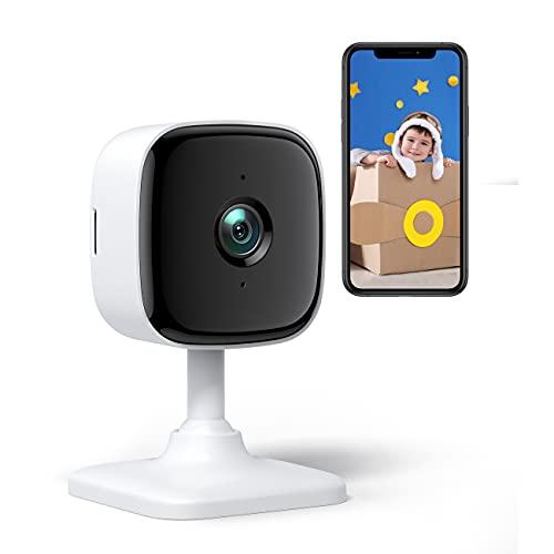 PC440 Caméra Surveillance WiFi Intérieur Babyphone Caméra 1080P Moniteur bébé, Travailler avec Alexa pour la Maison Bureau garderie Vision Nocturne, alertes de Mouvement Son, Audio bidirectionnel