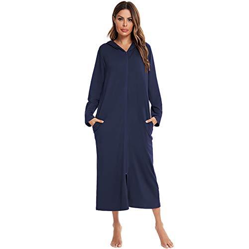 Pijamas Otoño e Invierno Mujer Cremallera Camisas Pijamas Ropa Hogar Ropa De Manga Larga Mujer Ropa D,XL