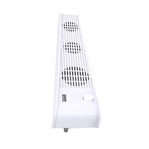 H HILABEE Ventilador de refrigeración 2 en 1 3-FanHost para Consola PS5 versión de Unidad óptica Necesidades de Juego estación de Carga de edición Digital - Blanco