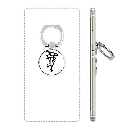 DIYthinker Bones Inscripties Chinese Zodiac Paard Telefoon Ring Stand Houder Beugel Universele Smartphones Ondersteuning Gift