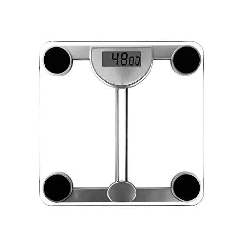 MUTANG Báscula de baño de Peso Digital de Alta precisión Báscula de Peso con tecnología Step-On, 200kg / 73 * 29mm, Pantalla Digital fácil de Leer - Vidrio Templado