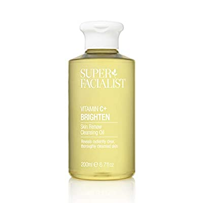 Super Facialist Vitamin C Skin Renew Cleansing Oil - Womens Vit C Cleanser Gently Removes Eye & Face Make Up. Boosted with Vitamin E & Cooling Cucumber - 200 ml