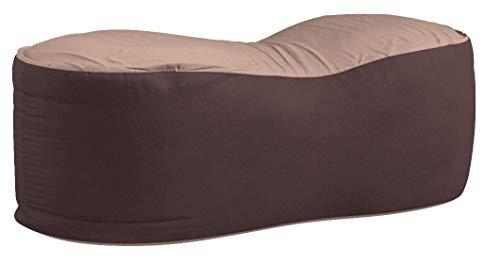 山善ビーズクッション幅110×奥行55×高さ43cm特大2通りの座り心地洗えるカバーダークブラウンBS60-1140(DBR)T