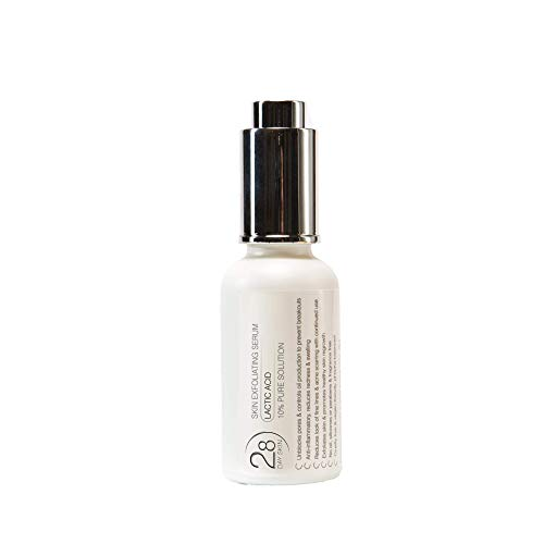 28 Day Skin | Cell Renewal 10% Lactic Acid Exfoliant for All Skin Types | Helps with Sun-Damaged Skin, Hyperpigmentation & Spot Marks | Vegan & Cruelty-Free | 30ml Dropper Bottle