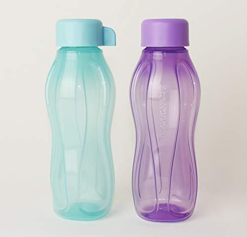 TUPPERWARE EcoEasy to Go Trinkflasche EcoEasy Ökoflasche 2X 310ml LILA/Mint Flasche + Eitrenner