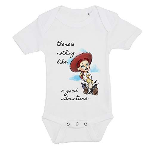 All SAS Body pour enfant avec impression Toy Story Jessie en 100 % coton, fabriqué en Italie - Blanc - 6-12 mois