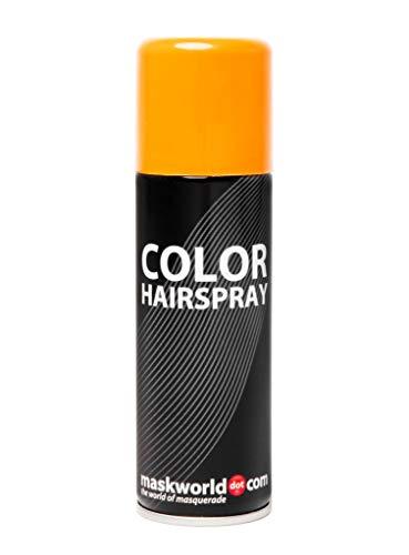 Maskworld Color Haarspray für farbig buntes Haar - Orange - Color Farbspray zum Verkleiden & Schminken für Karneval, Fasching, Halloween & Motto-Party