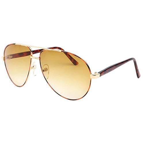 Eye Wear Lunette de soleil aviateur Tendance Marron et Jaune Alkyl - Mixte