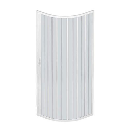 RL Mampara de Ducha 75x75 CM Semicircular de PVC Mod. Scorpione con Apertura Lateral