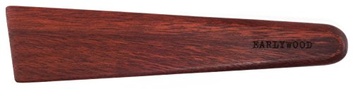 Earlywood 10 inch Handmade Wood Cooking Utensil for Kitchen, Multi-Purpose Wood Scraper and Egg Turner, Cast Iron Scraper and Wood Saute Spatula - Made in USA - Bloodwood