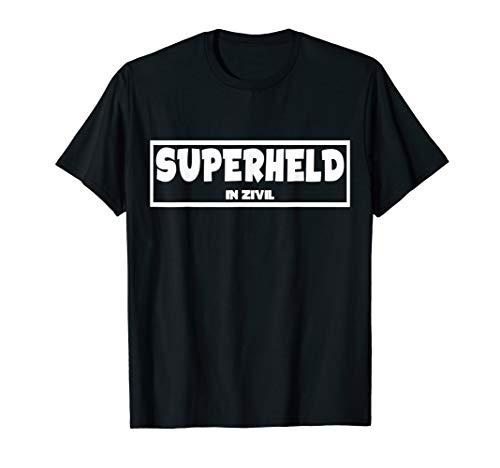 Superheld In Zivil Last Minute Halloween Karneval Kostüm T-Shirt