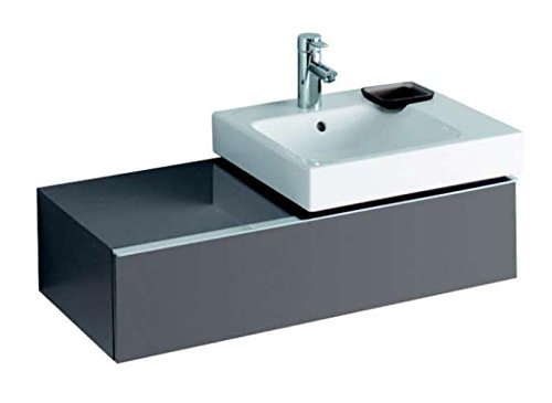 Keramag Waschbeckenunterschrank iCon, für Waschtisch 124050, 89x24cm x47,7cm Platin Hochglanz