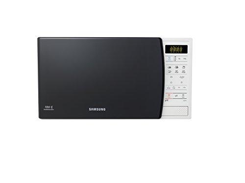Samsung GE731K - Microondas con grill de 20 L, interior de cerámica, 6 niveles de potencia, 750 W, color negro y blanco
