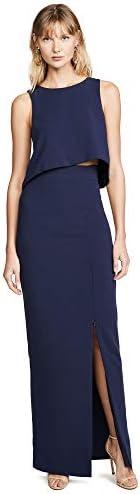 Black Halo Women s Kacie 2 Piece Maxi Dress Pacific Blue 0 product image