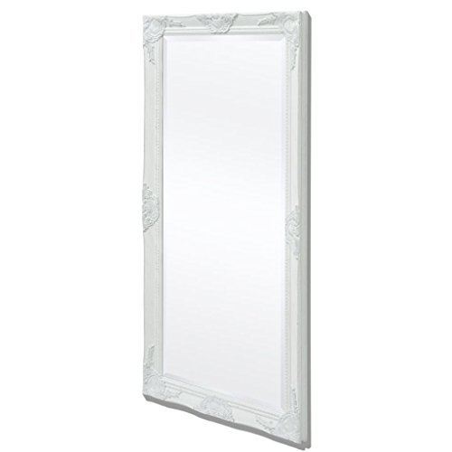 VidaXL Espejo Pared Estilo Barroco 120x60 cm Blanco