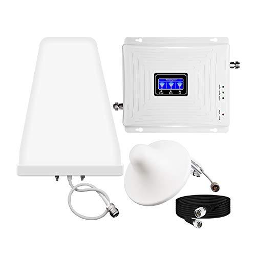 Fangfang Kit de Refuerzo de señal de teléfono Celular para el hogar y la Oficina, 2G 3G 4G Cubre hasta 5,000 pies Cuadrados, repetidor de Amplificador de señal de teléfono móvil
