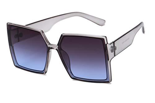 UKKD Gafas De Sol Mujeres Caja Retro Gafas De Sol Gafas De Sol De Moda para Hombres Y Mujeres