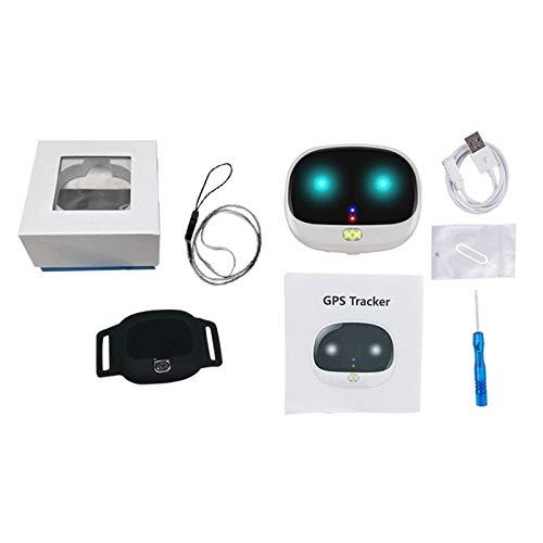 Rastreador GPS para perros, dispositivo de seguimiento en tiempo real TOPQSC, control de aplicación para perros y gatos con rango ilimitado (blanco)