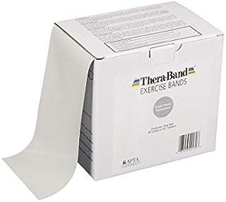 TheraBand セラバンド トレーニングチューブ バンドタイプ 徳用サイズ 長さ45.7m タン イエロー レッド グリーン ブルー ブラック シルバー ゴールド (シルバー(強度:+4))