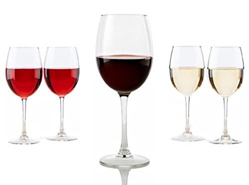 Copas de Vino Pinot 470ml - Pack de 6 Copas Vino de Cristal Vicrila - Copas Cerveza - Copas Gin Tonic - Copas Para Novios - Aptas para Lavavajillas