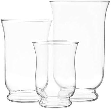 Royal Imports Hurricane Pillar Candle Holder Clear Glass Flower Vase Terrarium Succulent Planter product image