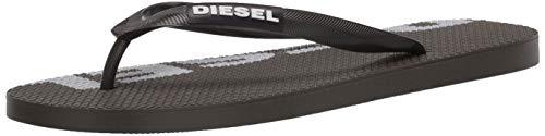 Diesel Herren SA-BRIIAN - Sandals Flip-Flop Flipflop, Olive Night/White, 42 EU