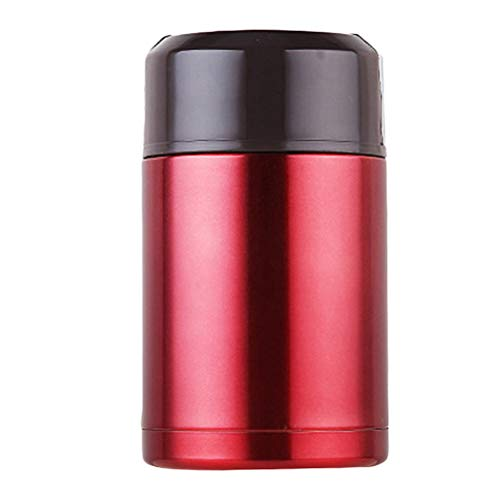 1000ML Stainless Steel Vacuum Heat Preservation Food Container Portable Lunch Box with Handle for Adults Teens Workers (Red) Best Partner For Lunch