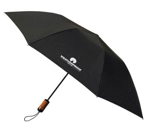 Weatherproof 43 Inch Auto Open Folding Umbrella, Black, One Size