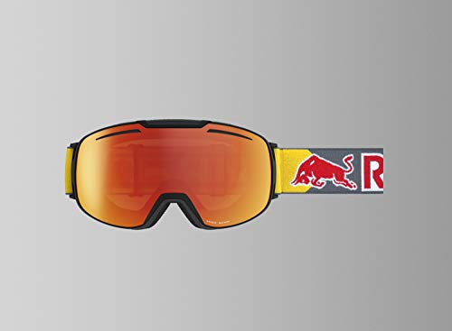 Red Bull Buckler Goggles - Matte Black w/ Orange Red Flash Lens