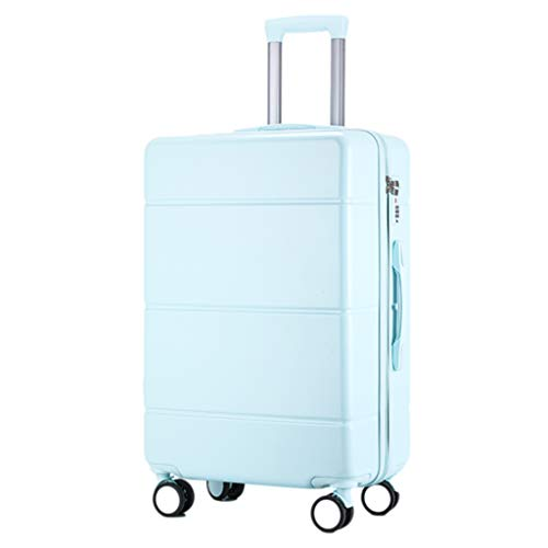 Men Women Suitcases, New Lightweight Suitcases, PC Universal Wheel Trolley Suitcases, TSA Code Locks Scratch Resistant Wear Resistant(Color:blue,Size:22 inch)