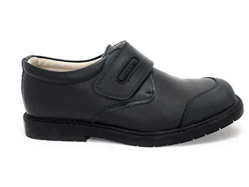 Bubble bobble Zapato COLEGIAL Piel Velcro Puntera Reforzada - Niños Color Marino Talla 38