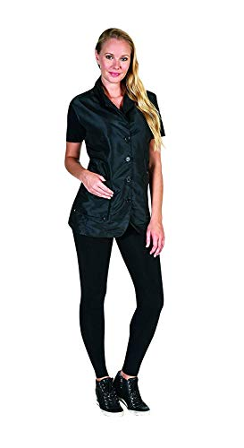 Betty Dain Kool Breeze Mesh Back Salon Stylist Vest, Unique Stretch Mesh Back For Breathability, Pockets with Zippered Bottoms, Button Closure, Lightweight, Water Resistant Polyester Fabric, M/L