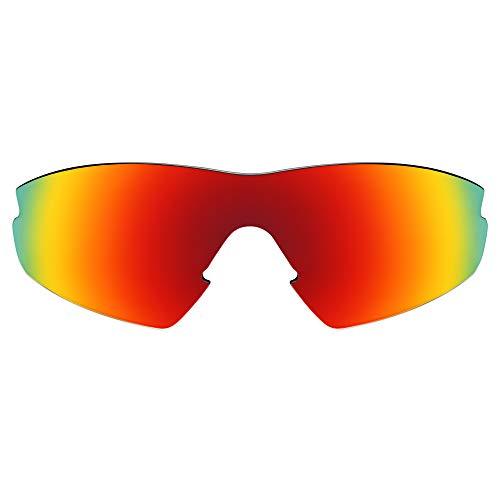 Revant Lentes de Repuesto Compatibles con Gafas de Sol Oakley M2 (Aero), Polarizados, Rojo Fuego MirrorShield