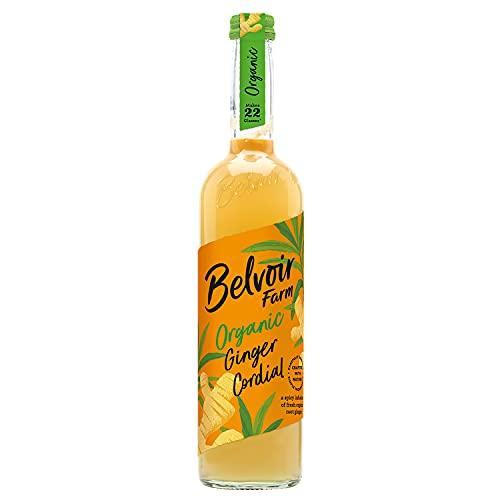 Belvoir - Sirop de Gingembre Bio - Sans Édulcorants, Sans Conservateurs ni Colorants - Infusion de Gingembre Bio, Jus de Citron Bio et Sucre Bio - Bouteille en Verre de 500 ml - Pack de 6
