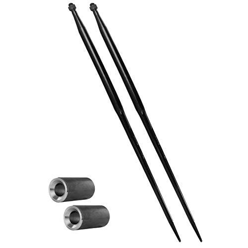2x 1200 mm | M22 | Frontladerzinken von BPT & 2x 50 x 145 mm Konusbuchse | Großballenzinken | Zinken | Ballenspieß | Set | Konushülse | Buchse | Einschweißbuchse | Ballengabel | Frontlader