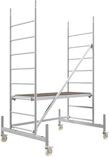 ALTEC Rollfix® 1.0 300 | 3m AH | Rollen (Ø125mm) | Standardtraverse | Made in Germany | TÜV&GS | belastbar 200kg/m² | Alu Arbeitsgerüst | Baugerüst | Fahrgerüst