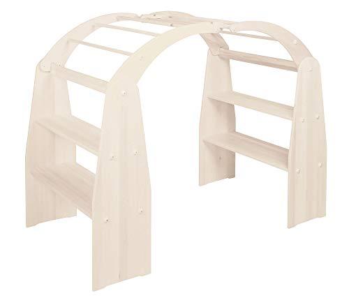 BioKinder 25747 Anna speelhuisje zonder winkelinzet van massief houten grenen 165 x 88 x 120 cm wit geglazuurd