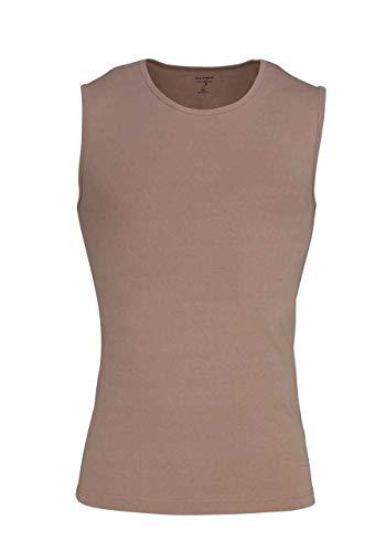 OLYMP Level Five body fit Unterzieh- T-Shirt Rundhals Stretch beige Größe M