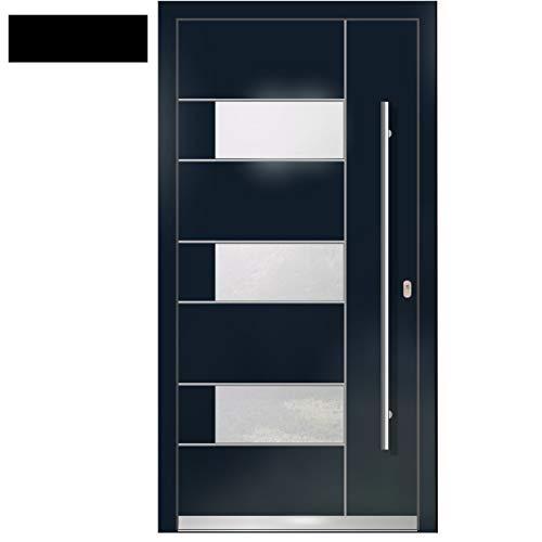 Haustür Welthaus WH75 RC2 Premiumtür Aluminium mit Kunststoff LA330 Tür 1100x2100mm DIN Rechts Farbe aussen Anthrazit Innen weiß außengriff BGR1400 innendrucker M45 Zylinder 5 Schlüßel