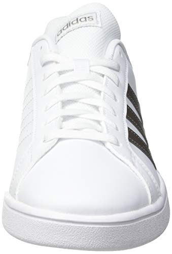 adidas Grand Court Base, Sneaker Mujer, Footwear White/Platin Metallic/Footwear White, 38 EU