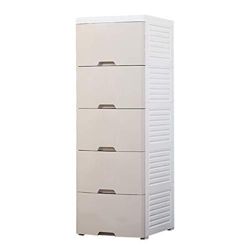 Wyyggnb Lagerturm Lagerschubladen, Kunststoff kleiderschrank, schublade typ aufbewahrungsbox, Erweiterung Kunststoff Kind Garderobe Halle mehrschichtige locker, (42 * 50 * 120cm) (Color : A)
