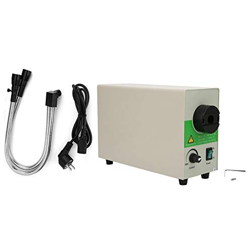Microscopio Fuente de luz Tubo rígido doble 5500K Temperatura de color Fuente de luz fría Fibra óptica de bajo consumo de energía para microscopio(European standard 85~265V)