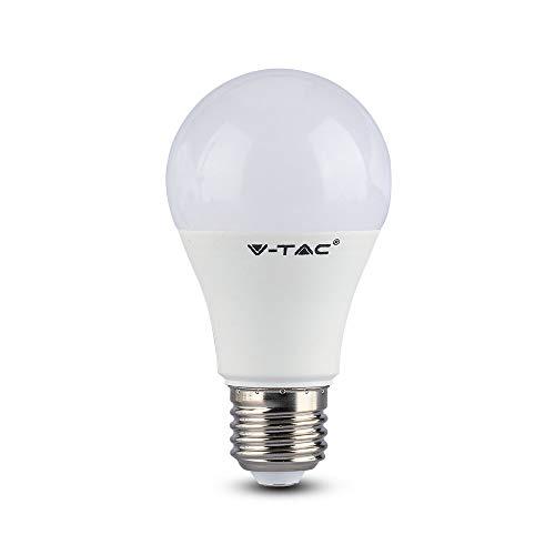 V-TAC LED Lampe Farbwechsel E27 9W Dimmbar RGB + Warmweiß LED Leuchtmittel Stimmungsbeleuchtung mit 16 Farben 16 Stufen Dimmen mit Fernbedienung [Energieklasse A+]