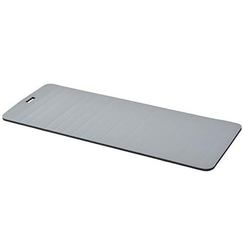 HOMCOM Yogamatte, rutschfeste Sportmatte, Gymnastikmatte mit Tragegurt, Grau, 183 x 75 x 1,8 cm
