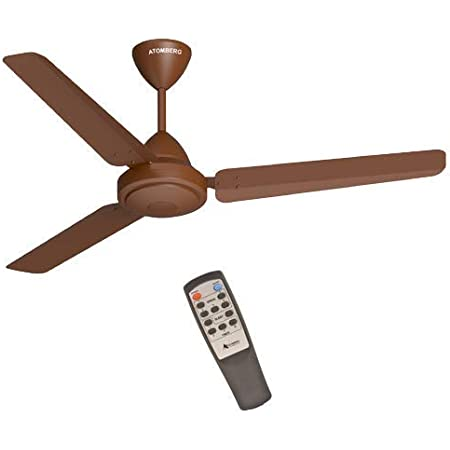 Atomberg Efficio 1200mm BLDC Energy Saving 5 Star Rated High Speed Ceiling fan with Remote (Matt Brown)