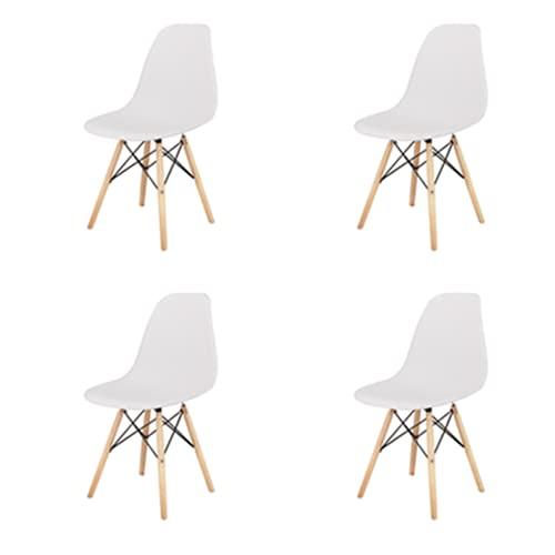 4er Set Moderne Wohnzimmerstuhl Esszimmerstühle Bürostuhl Kunststoff Massivholz Chair im skandinavischen Stil