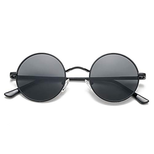 COASION - Gafas de sol polarizadas estilo retro con círculo UV400